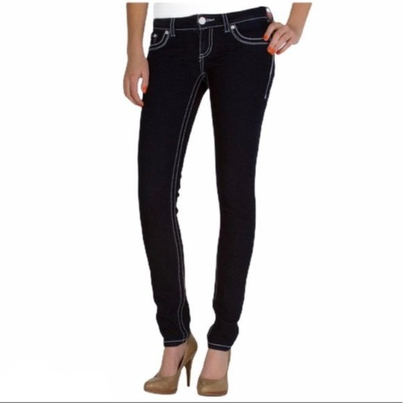 BKE 25L DAYTRIP Lynx Skinny Dark Denim Stretch
